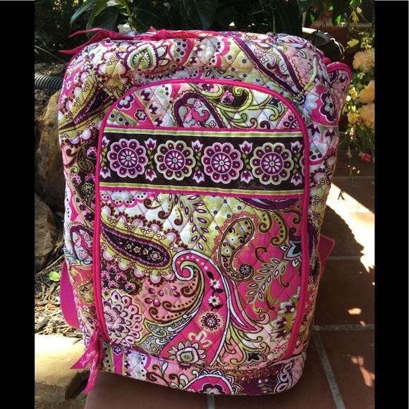Vera Bradley Handbags - Vera Bradley Very Berry Paisley Laptop Backpack